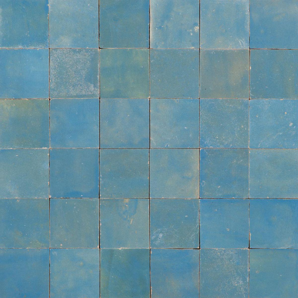 Pose Zellige Sans Joint mosaique 5x5cm zellige lazuli sans joint 30x30cm zela03