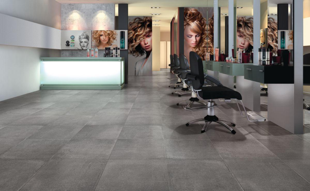 Carrelage Sol Interieur Renovation carrelage sol intérieur grès cérame beton evolution - anthracite mat -  30x30 cm - ép. 8 mm
