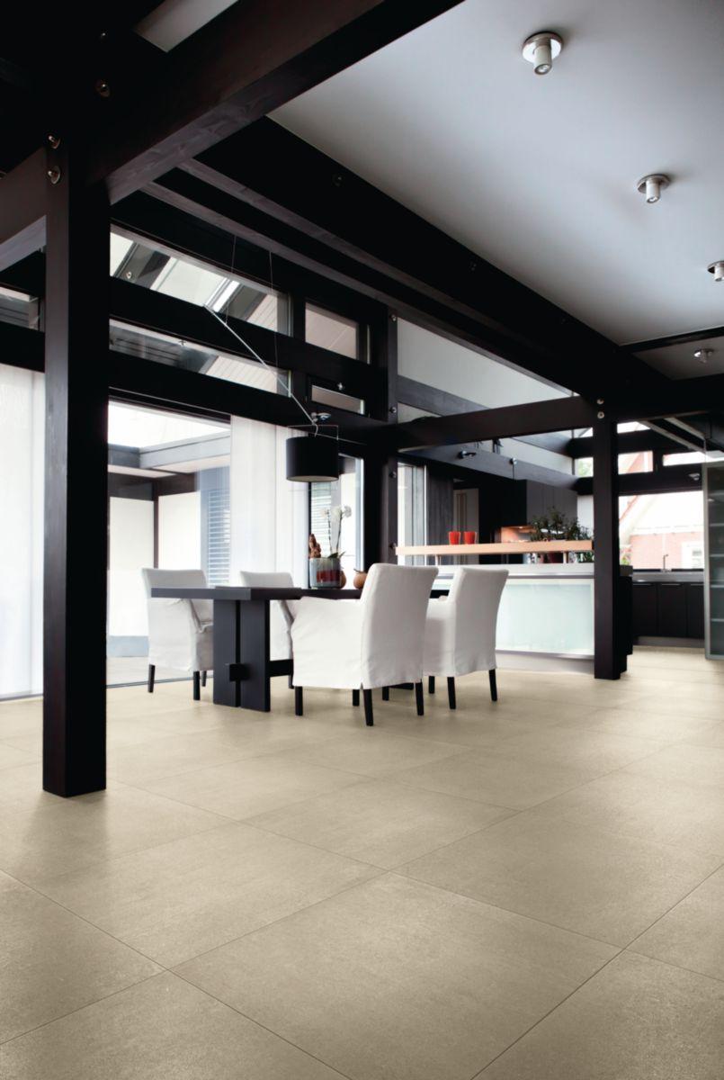 Sol En Beton Interieur carrelage sol intérieur grès cérame beton evolution - beige mat - 45x45 cm  - ép. 9 mm