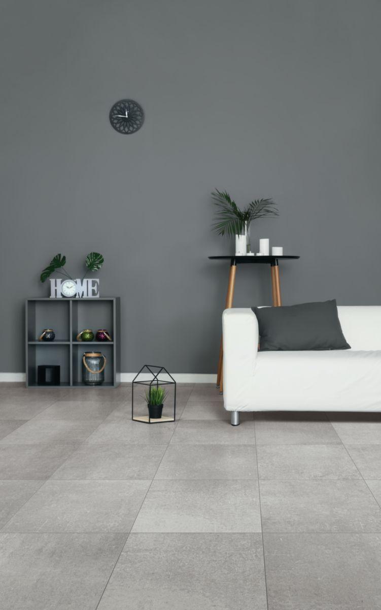 Carrelage Sol Interieur Renovation carrelage sol intérieur grès cérame beton evolution - gris clair mat -  45x45 cm - ép. 9 mm
