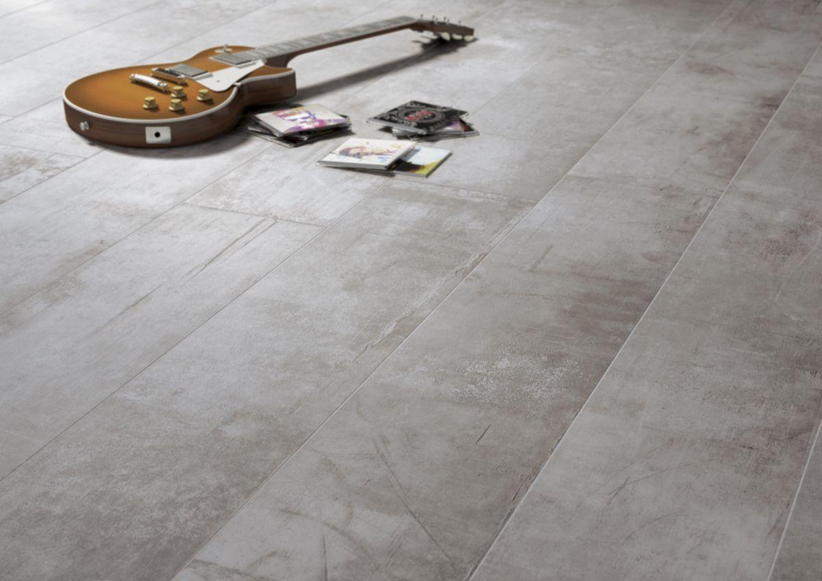 Carrelage Rectifié Ou Pas carrelage sol intérieur grès cérame plant - ash rectifié - 22,5x90 cm