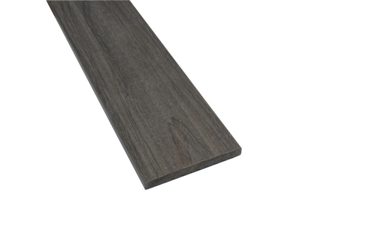 Lames De Terrasse Bois profil de finition pour lame de terrasse patio - bois composite - 84x10 mm  - l. 2,4 m