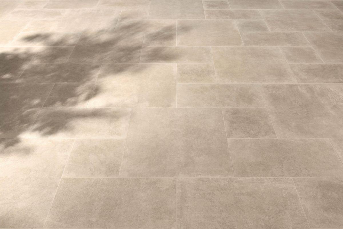 Carrelage Rectifié Ou Pas carrelage sol intérieur grès cérame émaillé petra - beige naturel rectifié  - 20x80 cm
