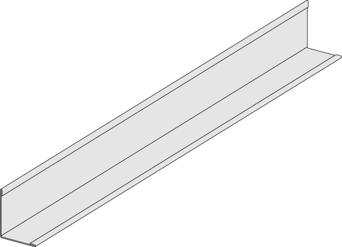 Cornière acier galvanisé Eurocoustic L. 3 m 30x30 mm ép. 0 ... - Cornière Acier 30X30