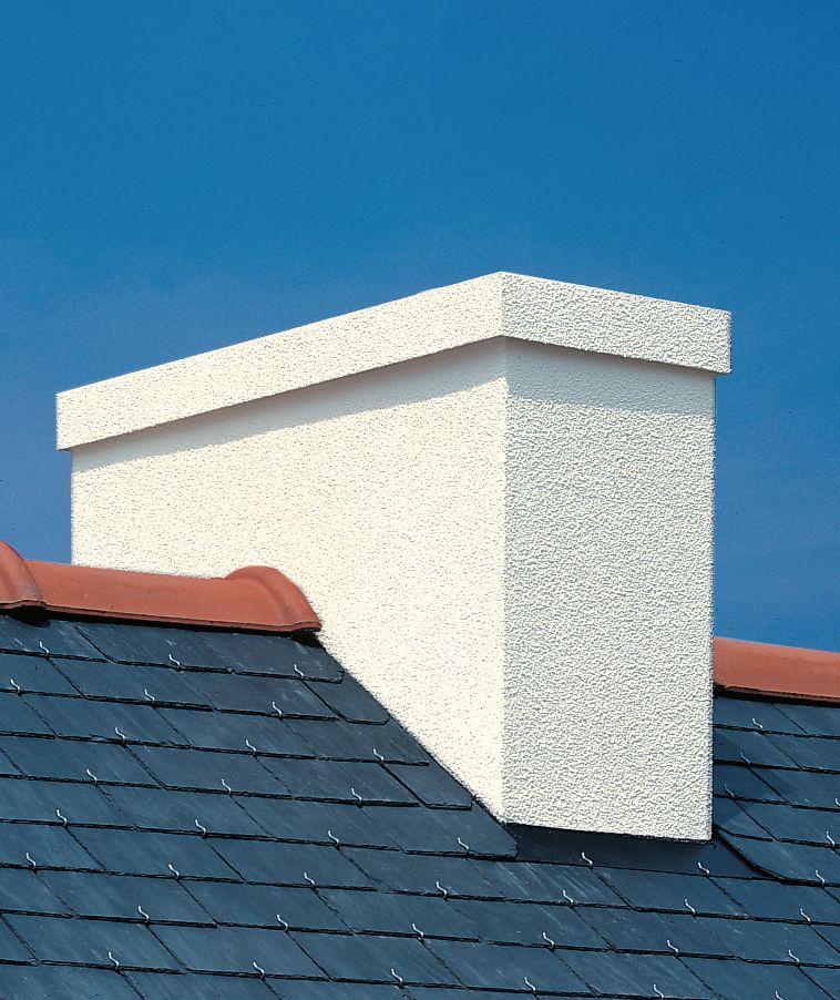 Sortie de toit BRETAGNE , Crépie blanc cassé sans chapeau, pente 100%, diamètre 230 mm Réf. STB ...
