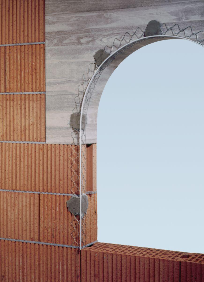 Enduit Blanc Mur Exterieur cornière angle fil extérieur acier galvanisé blanc - l. 2,95 ép. enduit 15  mm