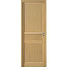 Porte de Chambre Avec Zarge CPL Chêne-platinweiß diagonalement ensemble complet 75 mm Design arête