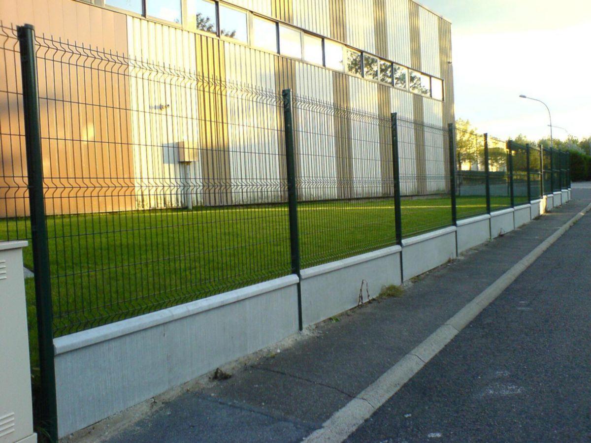 Prix D Un Mur De Cloture En Plaque De Beton plaque de soubassement pour axis - 251x50 cm - ép. 3,8 cm